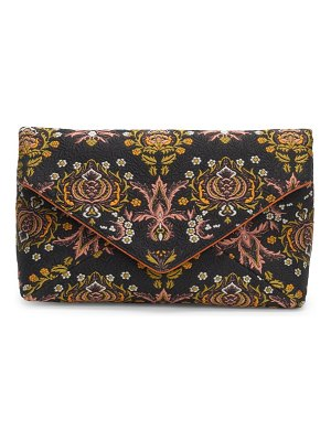 Dries Van Noten jacquard envelope clutch