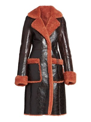 Dries Van Noten lorca dyed shearling & leather jacket