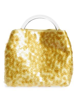 Dries Van Noten paillette top handle bag