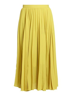 Dries Van Noten pleated midi skirt