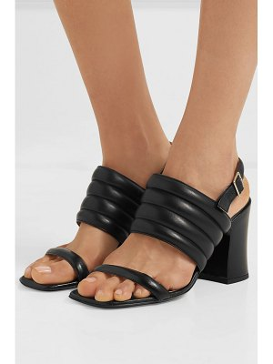 Dries Van Noten quilted leather slingback sandals