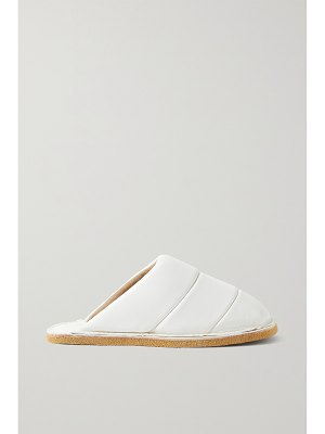 Dries Van Noten quilted leather slippers