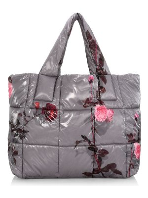 Dries Van Noten quilted rose-print tote