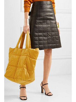 Dries Van Noten quilted sateen tote