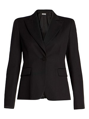 Dries Van Noten single-button peak shoulder jacket