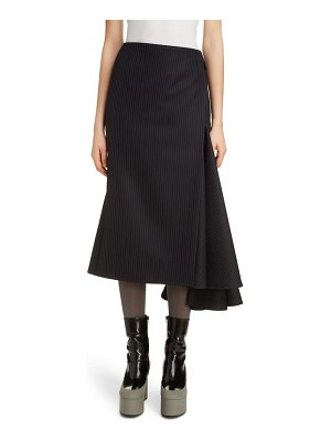 Dries Van Noten slice asymmetrical wool midi skirt