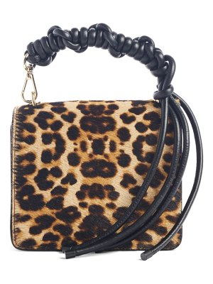 Dries Van Noten small knot leopard genuine calf hair crossbody bag