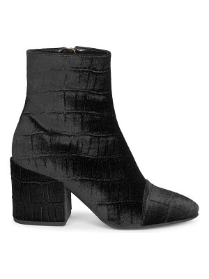 Dries Van Noten velvet ankle boots