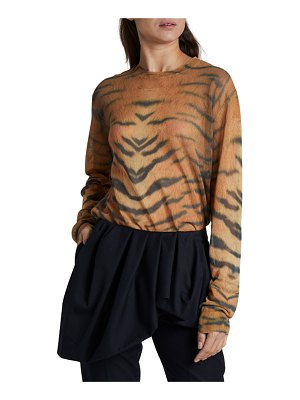 Dries Van Noten Zebra Print Crewneck Sweater