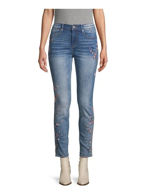 Driftwood Embroidered Floral Ankle Jeans