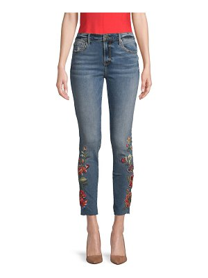 Driftwood Embroidered Skinny Ankle Jeans