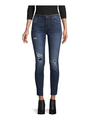 Driftwood Jackie Plaid Tips Ripped Skinny Ankle Jean/s