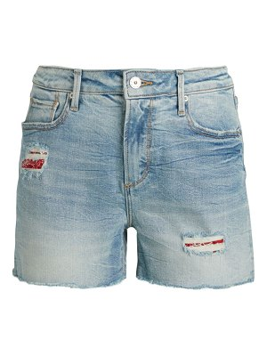 Driftwood Patch Distressed Denim Shorts