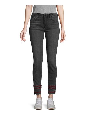 Driftwood Striped-Trim Ankle Jeans