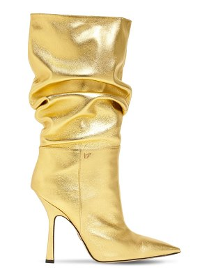 DSQUARED2 100mm metallic leather boots