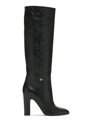 DSQUARED2 100mm polished leather tall boots