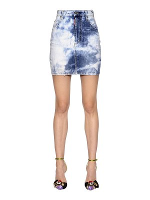 DSQUARED2 Bleached cotton denim mini skirt