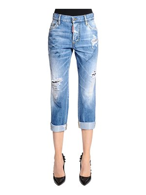 DSQUARED2 Boyfriend fit destroyed denim jeans