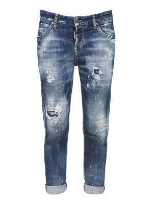 DSQUARED2 Distressed stretch cotton denim jeans