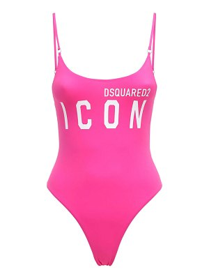 DSQUARED2 Logo print one piece swimsuit