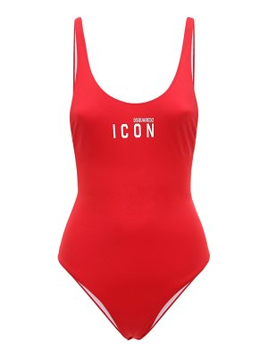 DSQUARED2 Printed logo one piece swimsuit