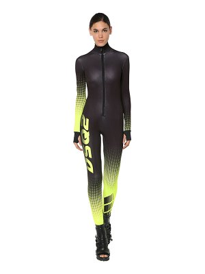 DSQUARED2 Printed stretch techno jersey jumpsuit