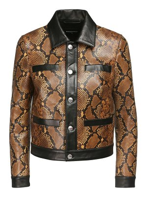 DSQUARED2 Python print leather jacket
