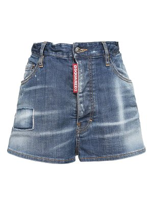 DSQUARED2 Stretch cotton denim mini shorts
