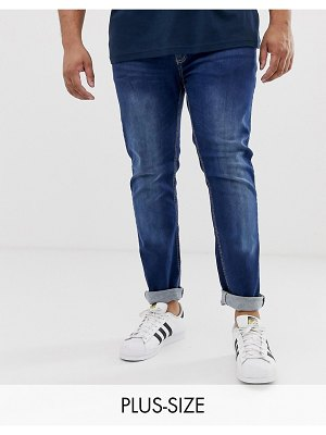 Duke king size tapered fit jean in blue with stretch