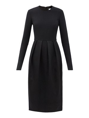 Duncan the petzold pleated twill dress