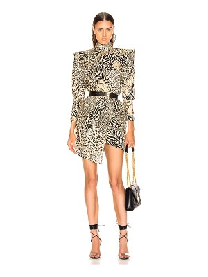 DUNDAS Gilded Leopard Print Dress