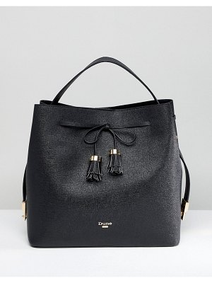 Dune Slouchy Tote Bag With Tassel Fastening