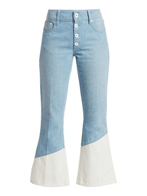 EACH x OTHER bleach hem cropped flare jeans