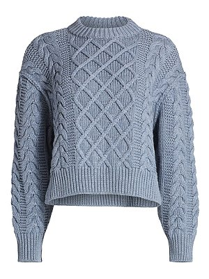 EACH x OTHER cabled cutout merino wool sweater