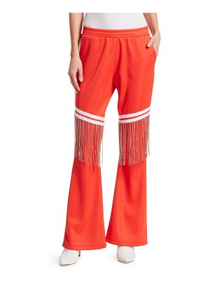 EACH x OTHER Jeweled-Fringe Cotton Track Pants