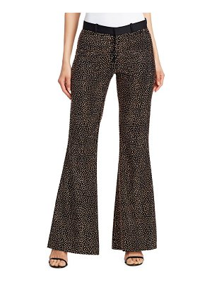 EACH x OTHER Metallic Stud Wool Flare Trousers