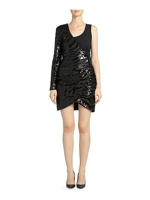 EACH x OTHER one-shoulder sequin mini dress