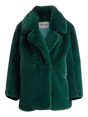 EACH x OTHER oversized faux-fur coat