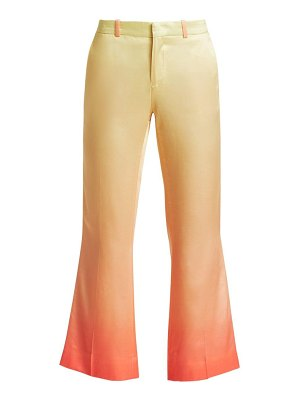 EACH x OTHER rainbow cropped satin trousers