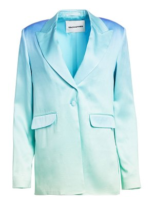 EACH x OTHER rainbow satin blazer