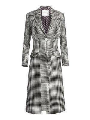 EACH x OTHER re-sculpted glen plaid coat