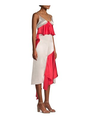 EACH x OTHER silk ruffle slip dress