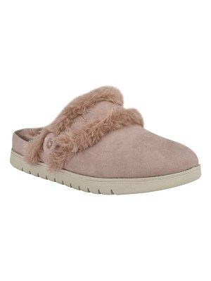 Easy Spirit season faux fur slipper