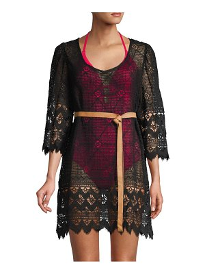 Eberjey Lace Belted Cotton Coverup