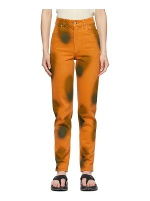 ECKHAUS LATTA orange  tapered el jeans