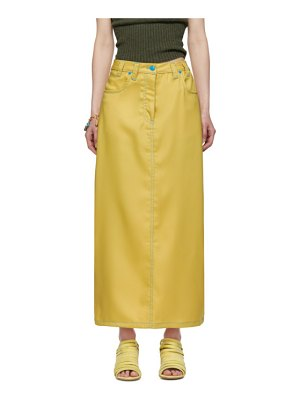 ECKHAUS LATTA yellow peak skirt