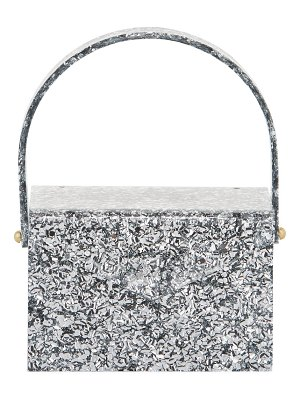 Edie Parker Gogo Glitter Acrylic Top-Handle Bag