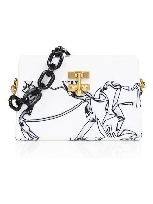 Edie Parker graphic acrylic box clutch