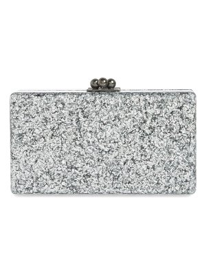 Edie Parker jean crystal box clutch