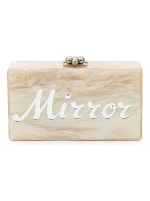 Edie Parker Jean Mirror Mirror Marbled Box Clutch